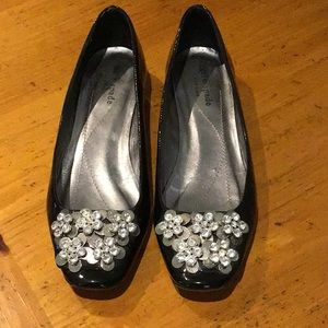 Authentic Kate Spade patent & crystal flats 7B